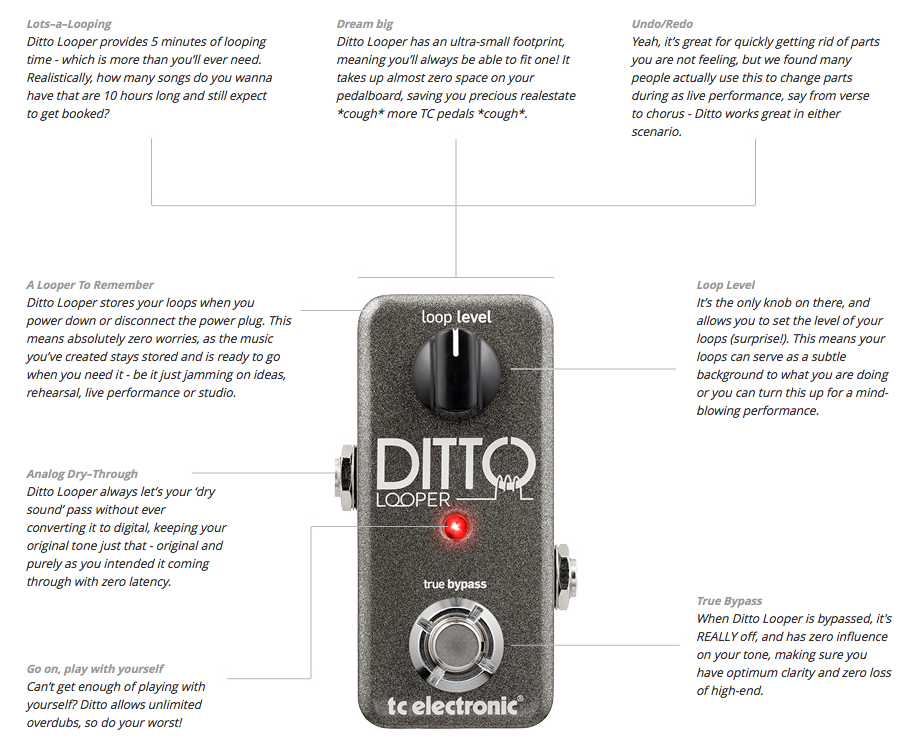 how to use tc ditto looper